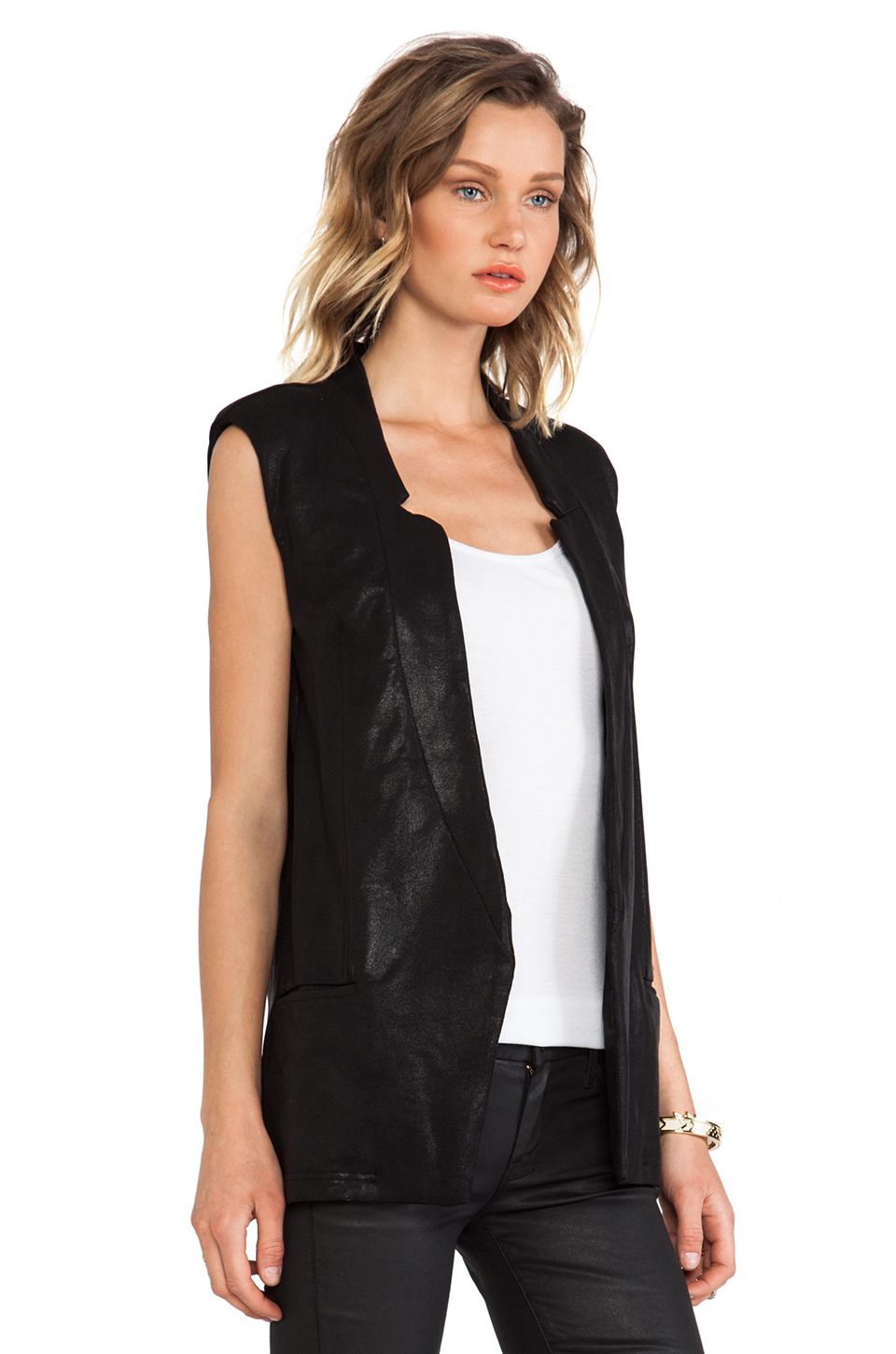 krisa Tunic Vest in Black | REVOLVE