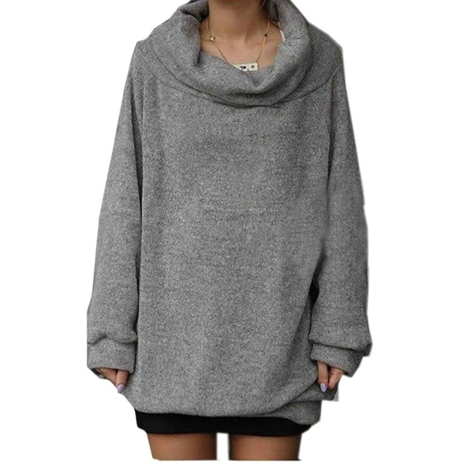 Najia symbol women's cowl neck pullover sweater showomen