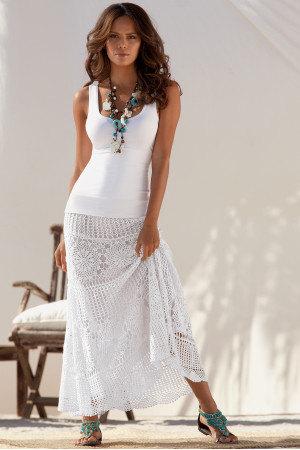 Crochet skirt . lace skirt maxi   crochet handmade  by irenastyle