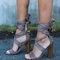 Era faux suede wrap heel