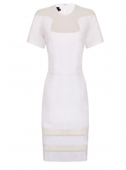 Hybrid Rowena Mesh Insert dress White