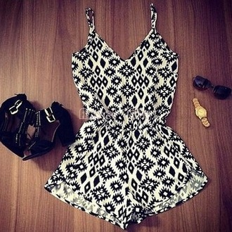 jumpsuit summer top summer outfits geometric sexy hot