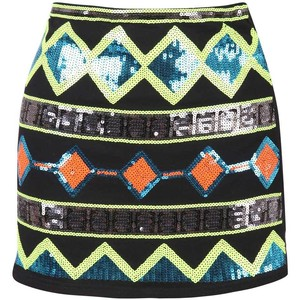 Shop for aztec skirt at polyvore