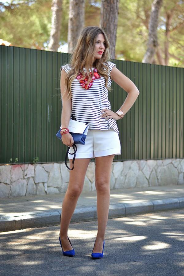 mi aventura con la moda t-shirt jewels bag top shoes shorts