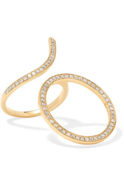 Anissa Kermiche - 18-karat Gold Diamond Ring