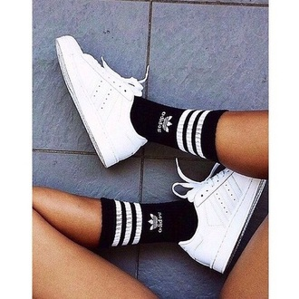 socks black adidas