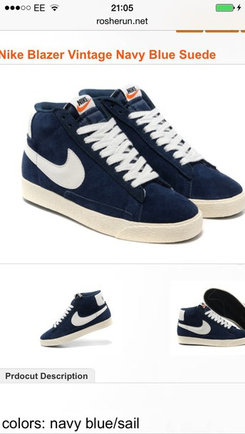 shoes blue nike blazers