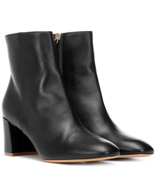 Mansur Gavriel Leather ankle boots in black