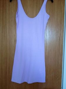 Pale Lilac/purple Stretch Long Vest/ Mini Dress Size 8 | eBay