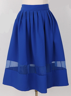 Summer pleated skirt