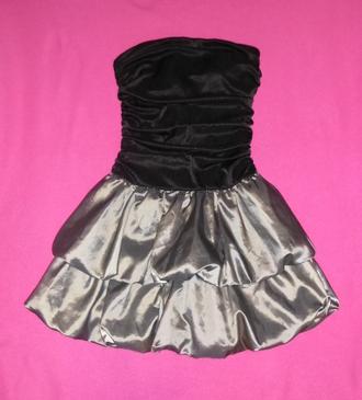 dress cute short shiny homecoming black silver mini