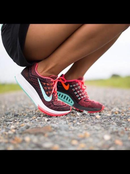 shoes multicolor sneakers nike shoes nike running shoes nike sportswear running shoes running blue orange