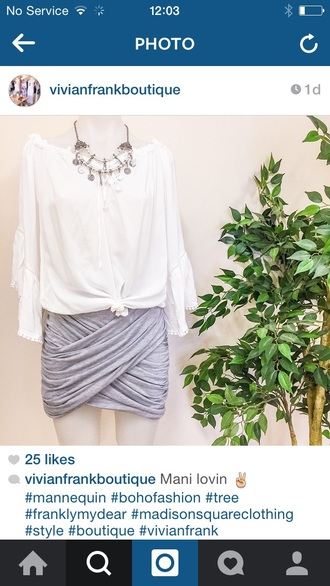 skirt grey skirt
