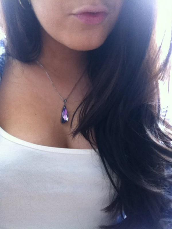 jewels swarovski necklace crystal pendant swarovski necklace raw stone necklace