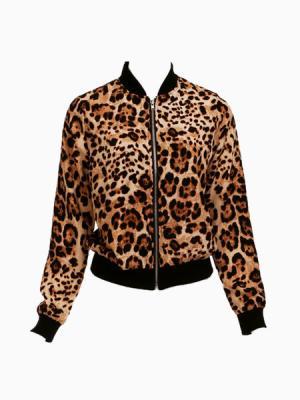Leopard Bomber Jacket | Choies