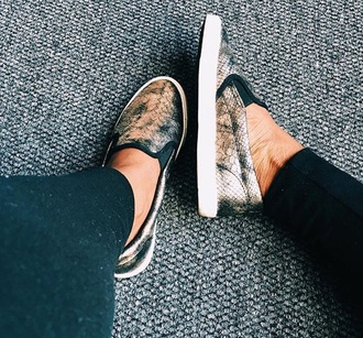 shoes sneakers metallic metallic shoes snake print loafers