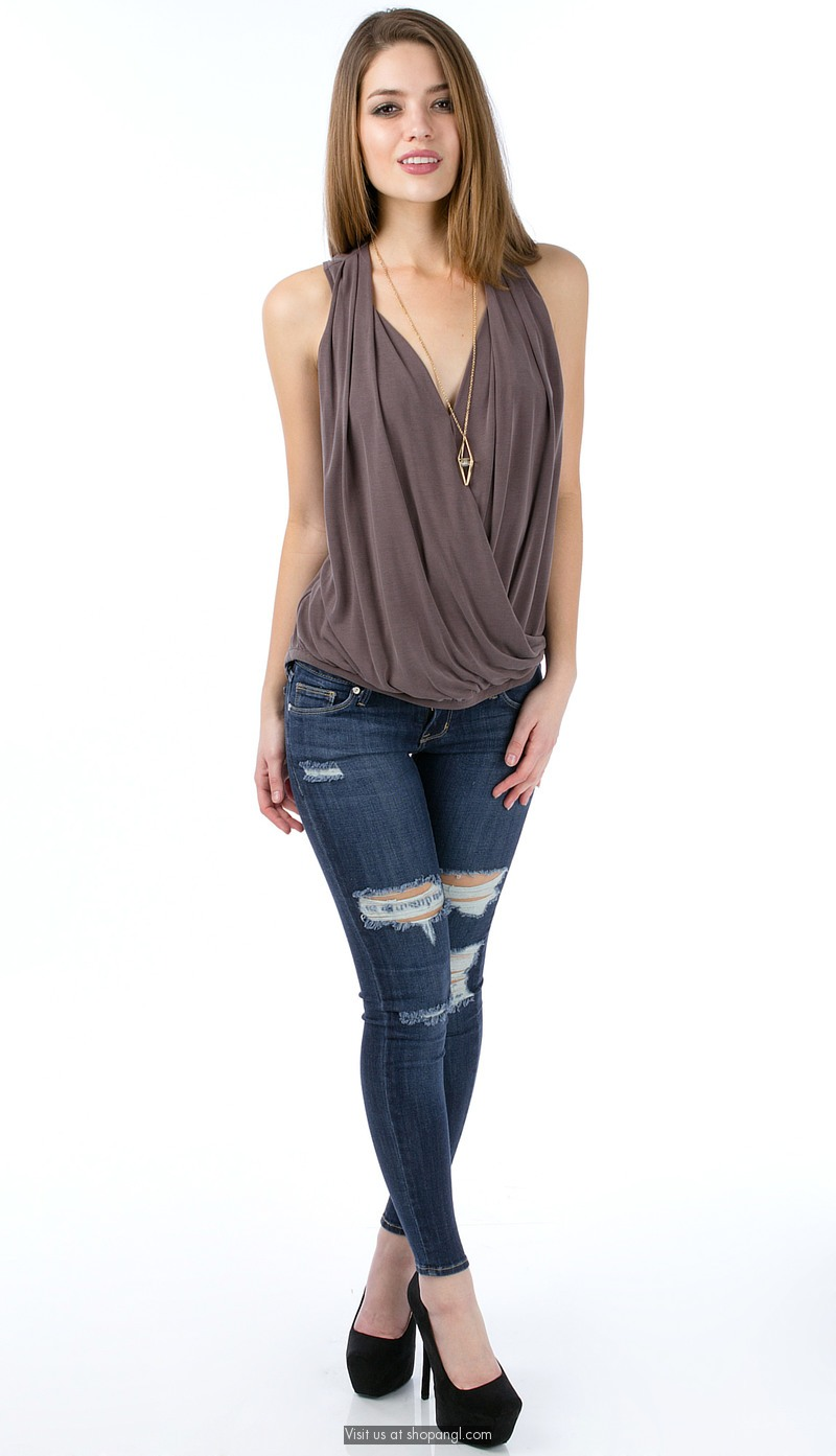 Soft crossover tank top