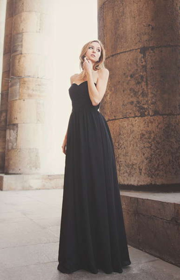 dress black little black dress chiffon