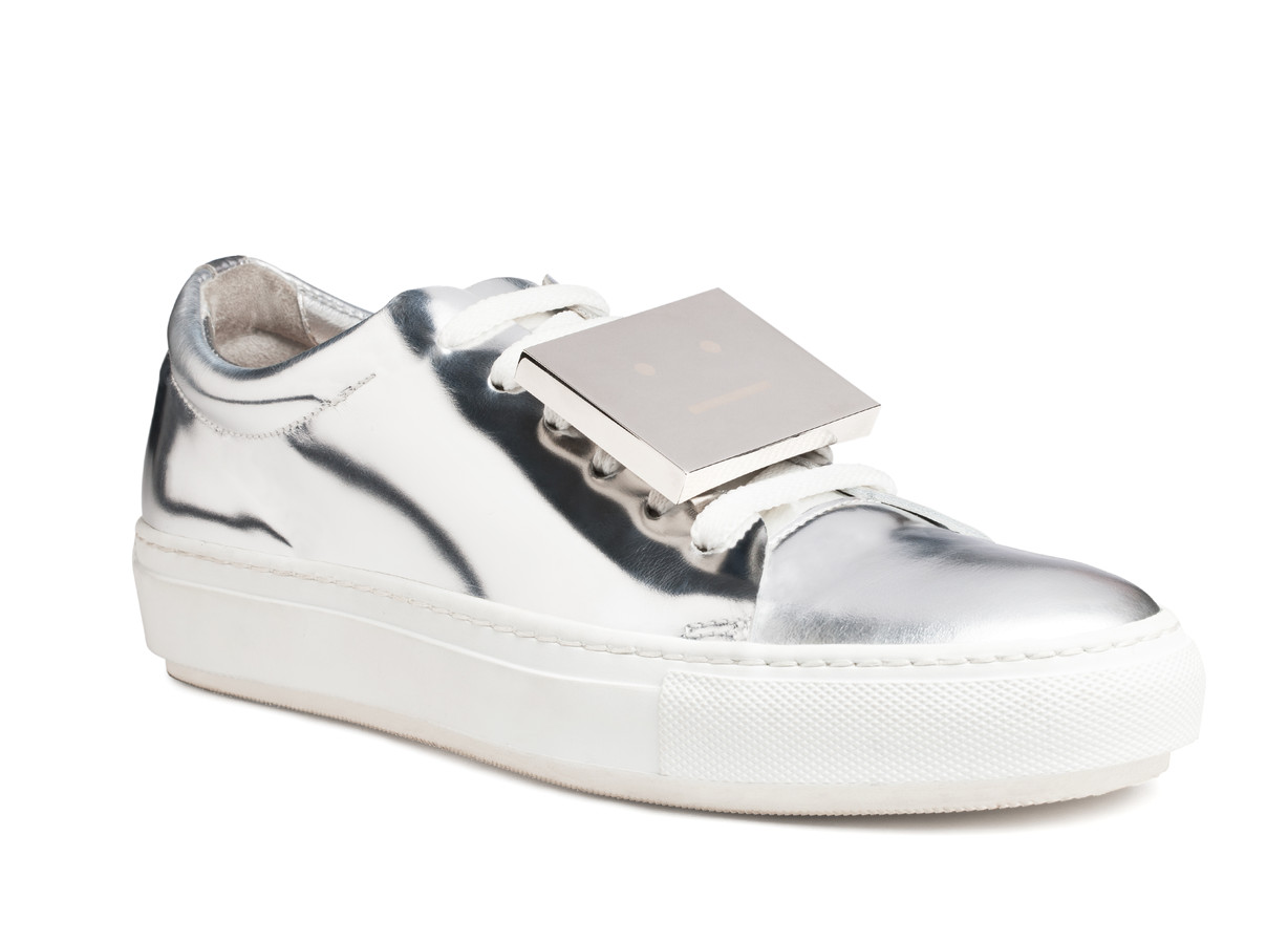 Acne Studios -  Adriana Metallic Silver - Shoes - SHOP WOMAN - Shop Shop Ready to Wear, Accessories, Shoes and Denim for Men and Women