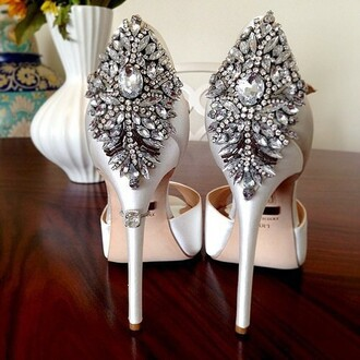shoes white high heels silver heels high heels diamond heels