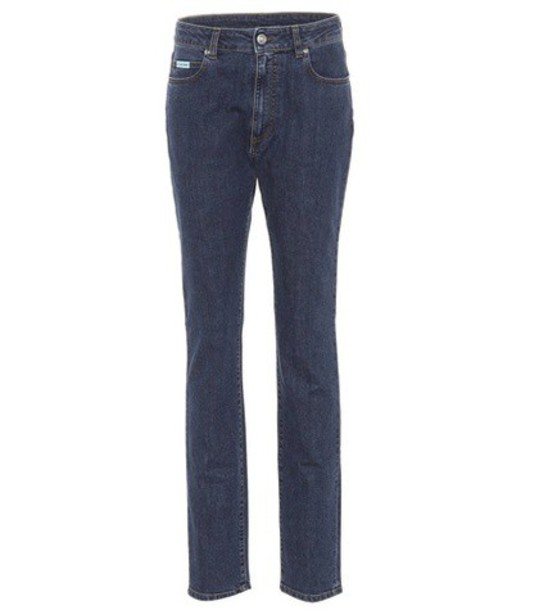 AlexaChung High-waisted jeans in blue