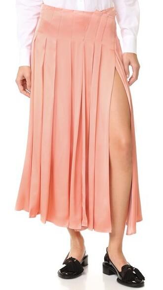 skirt pleated skirt pleated pastel light