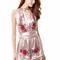 Rose embroided wrap playsuit 2 colours
