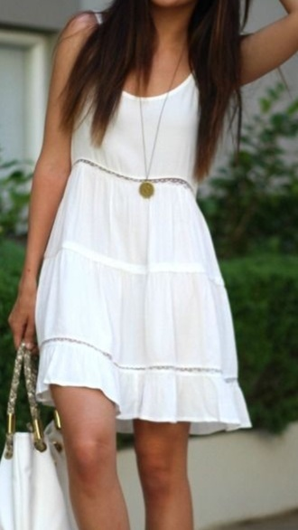 dress white dress white summer dress summer outfits sundress casual lace dress