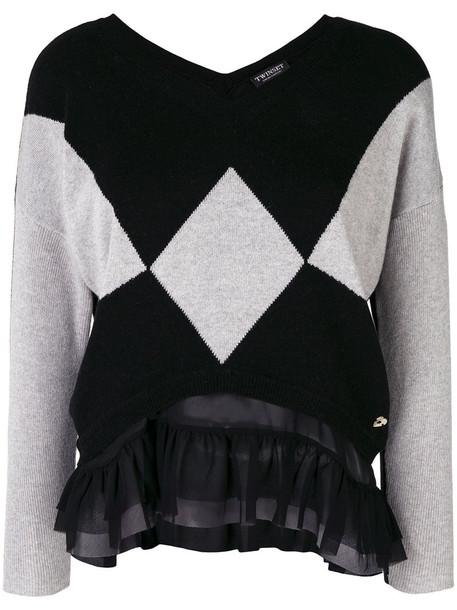 Twin-Set sweater women black wool