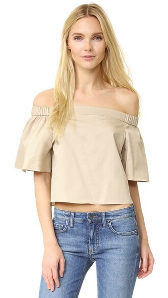 blouse short dollar top
