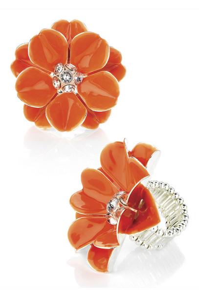 jewels ladies crystal orange ring