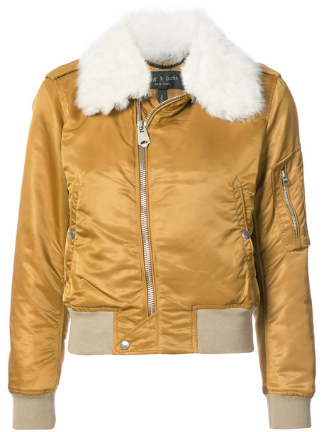 Rag & Bone jacket cropped jacket cropped fur women nude cotton