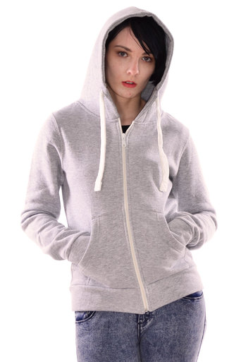Jodie long sleeve Hoodie in Grey - Pop Couture