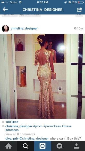 dress sparkle champagne dress prom dress rhinestones