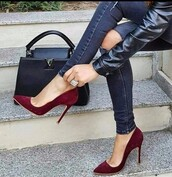 shoes,burgundy,burgundy shoes,heels,high heels,high heel pumps