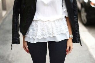 blouse t-shirt shirt white t-shirt white top top