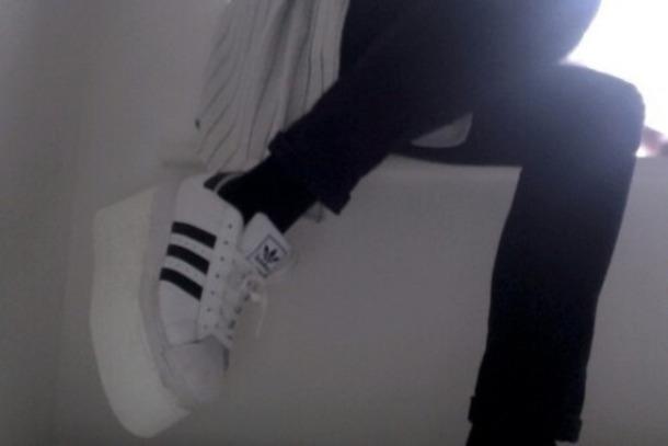 best loved 400c5 e6bc8 shoes adidas black white tumblr aesthetic