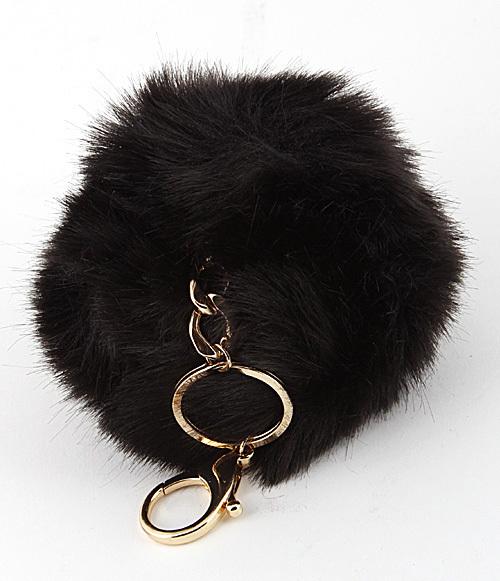 Puff Pom Fur Keychain Bag Charm