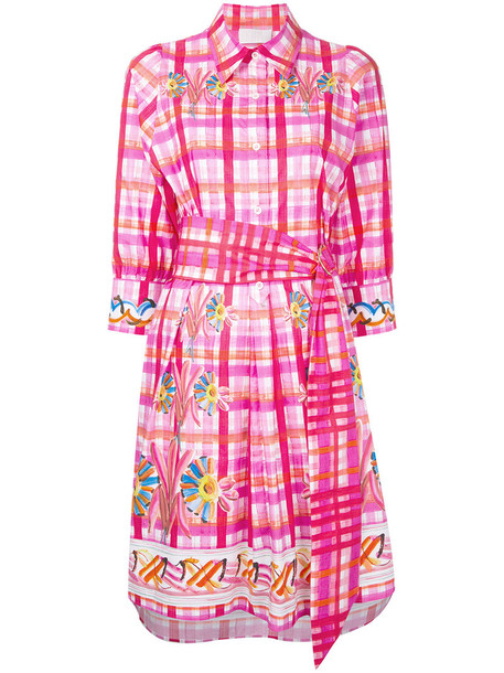 Peter Pilotto dress shirt dress women cotton purple pink