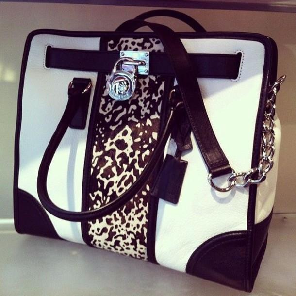 bag black white animalprint