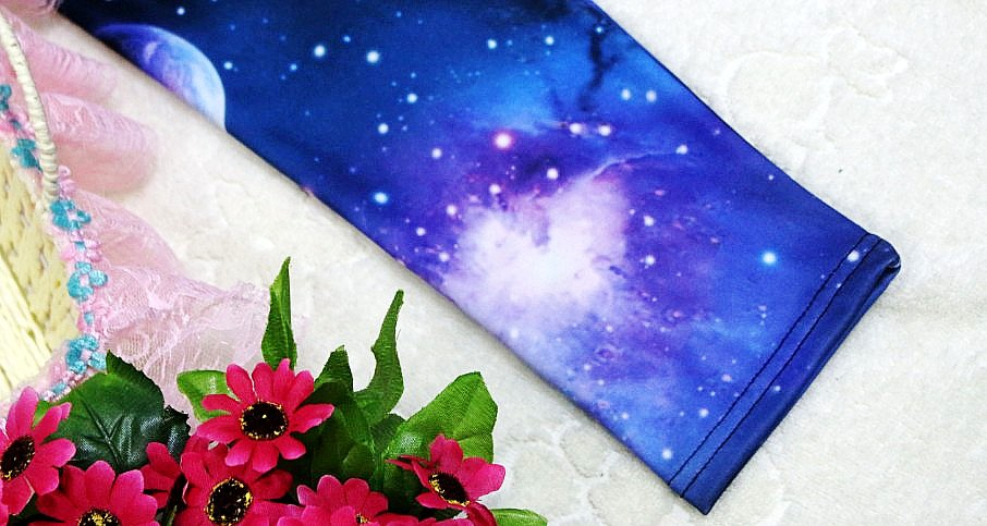 Womens Girl's Aurora Space Galaxy Star Graphic Printed Leggings Pants Tights New | eBay