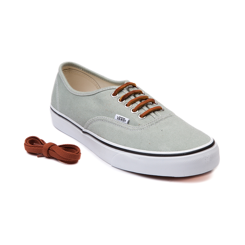 Vans Authentic Brushed Twill Skate Shoe, Light Green | Journeys Shoes