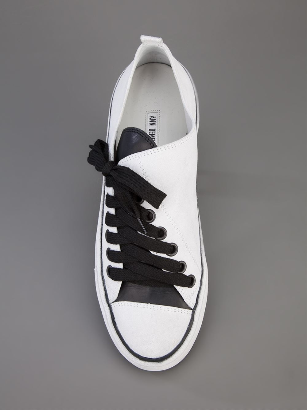 Ann Demeulemeester Blanche Asymmetric Sneaker - - Farfetch.com