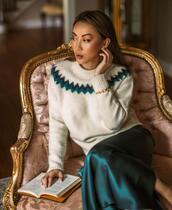 not jess fashion,blogger,sweater,skirt