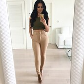 top,sleeveless top,pants,jeans,nude pants,camel pants,high waisted,beige,nude,skinny,skinny pants,slimmed,dressy,casual,womens linen trousers,bottoms,cute,outfit,clothes,leggings,khaki pants,khaki,leggins khaki,tan,tan pants,tan high waisted pants,khaki high waisted pants,high waisted pants