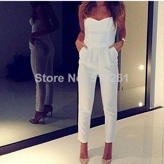Free shoping NEW ARRIVALS Fashion sexy V neck pants fit play suit elegant palysuit sexy jumpsuit-in Jumpsuits & Rompers from Apparel & Accessories on Aliexpress.com