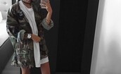 coat,camo jacket,camouflage,jacket,tumblr,tumbrl outfits,dress,white,white dress,baddies,t-shirt,tshirt dress,fashion,green,converse,shoes,earrings,shirt,jewels,oversized jacket