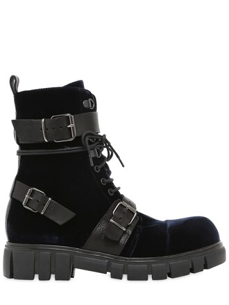 leather ankle boots boots ankle boots leather velvet navy shoes
