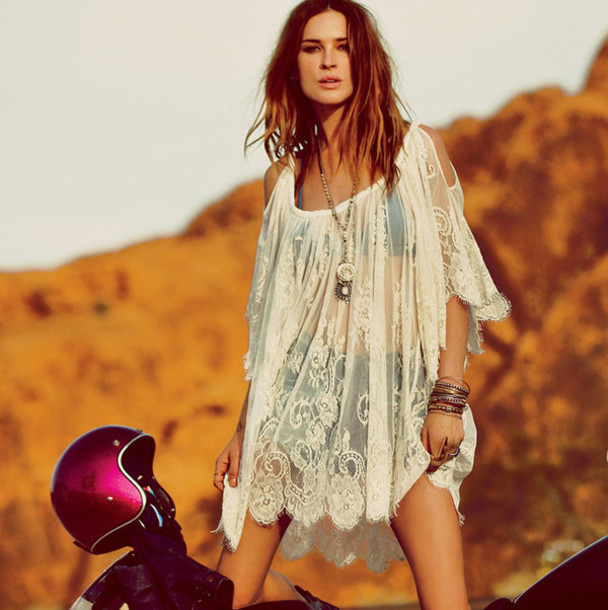 Fashion hot lace dress cute