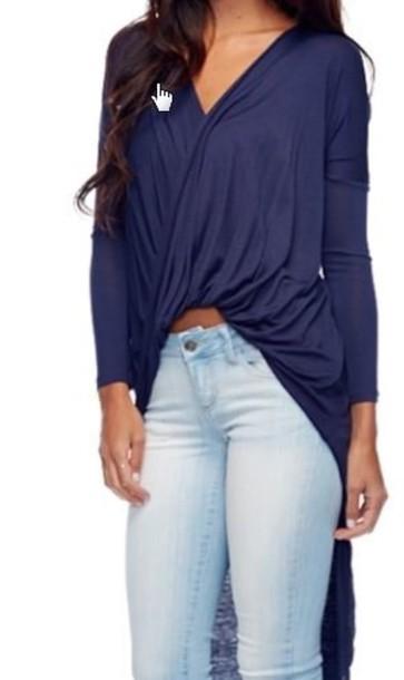 blouse navy blouse